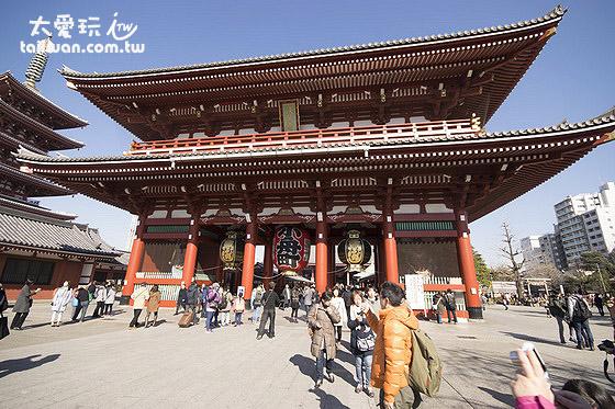 淺草寺周邊有許多便宜優質的旅館