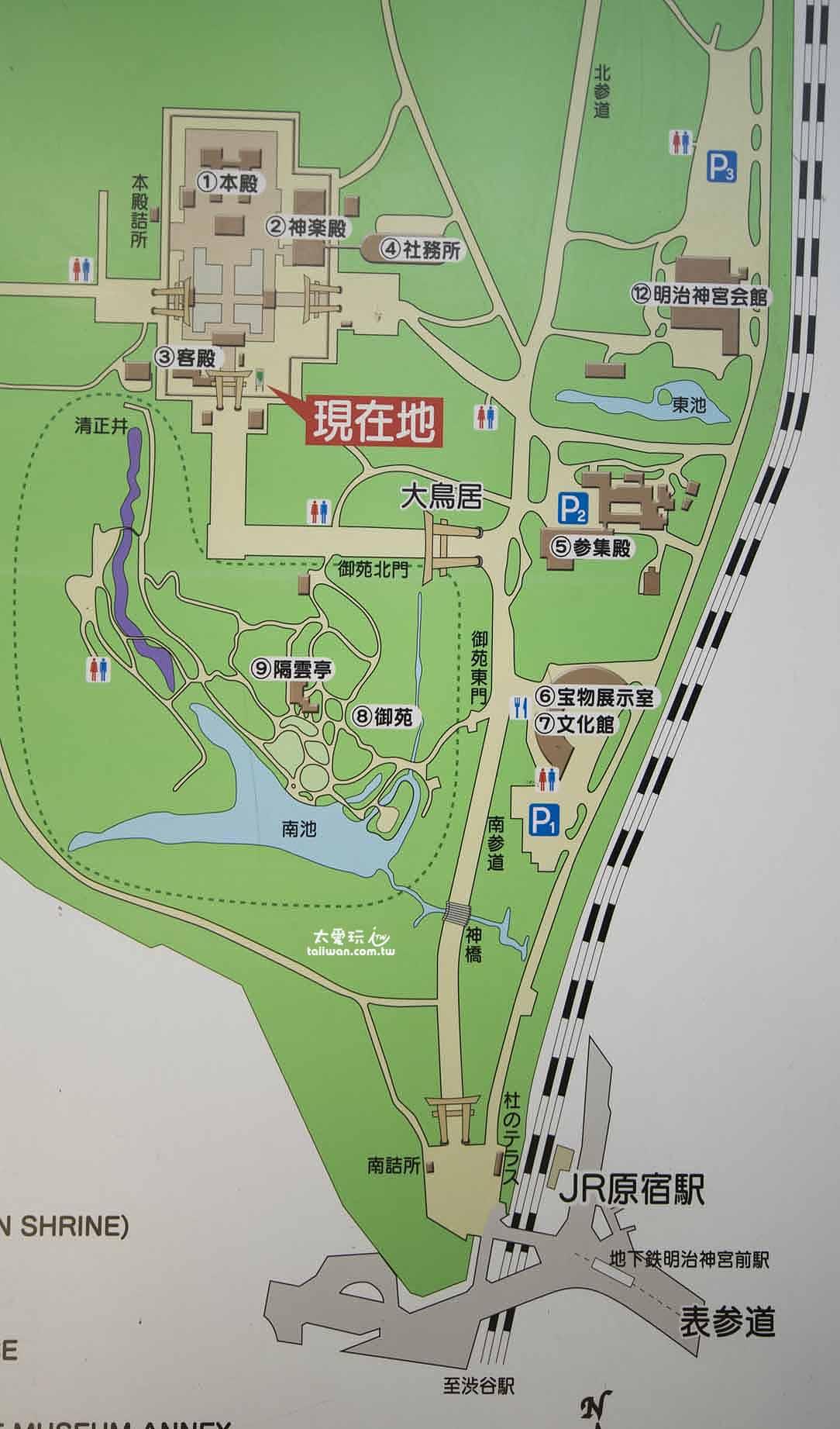 明治神宮地圖(點我看大圖)