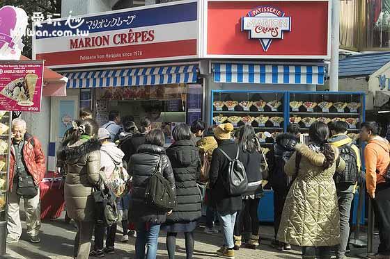 Marion可麗餅是竹下通人氣小店