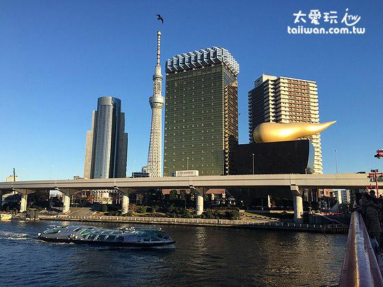 晴空塔、朝日啤酒黃金泡沫與HOTALUNA