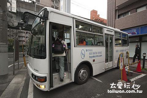 東橫Inn西葛西免費接駁巴士不大台,一定要預約