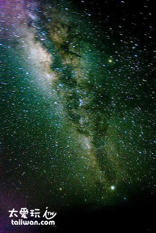 馬爾地夫抬頭的星空