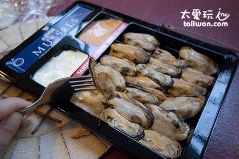 料理好的孔雀蛤