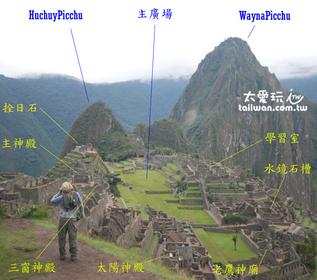 馬丘比丘遺跡配置(Machu Picchu)