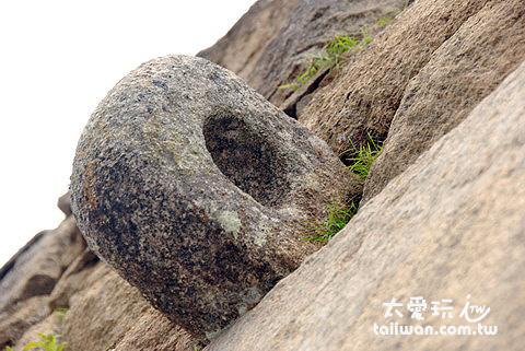 城門上側之石拴
