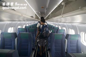 飛Caticlan機場小飛機的機艙