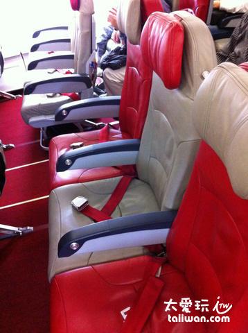Air Asia X的座位
