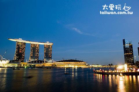 濱海灣金沙酒店Marina Bay Sand Hotel夜景