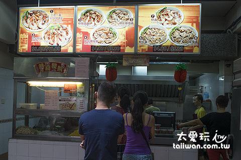 白蘭閣街蝦麵攤