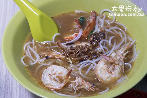 蝦麵的重點在蝦湯