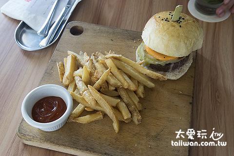漢堡與薯條餐