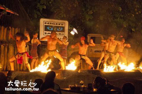新加坡夜間動物園Fire Show火焰秀
