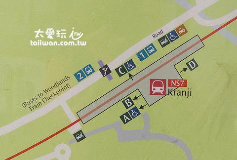 MRT到KRANJI站平面圖