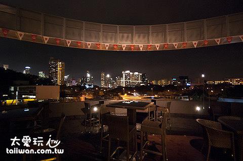 王子精品飯店樓頂酒吧夜景