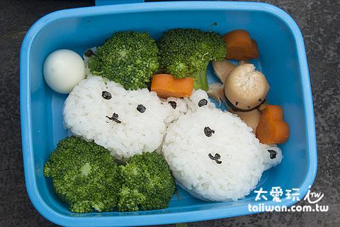 自己從外面帶個水果、麵包、餐盒當午餐