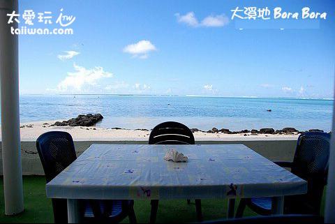 Chez Robert & Tina民宿一樓公共廚房餐廳