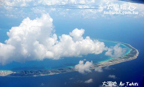 搭機看到的環礁