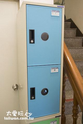 大阪六懶人館4人宿舍房提供櫃子鎖重要物品