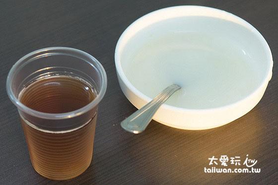 點餐都附贈湯跟飲料