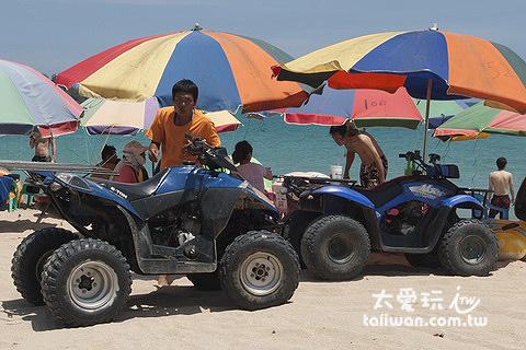 南灣海灘也有沙灘車