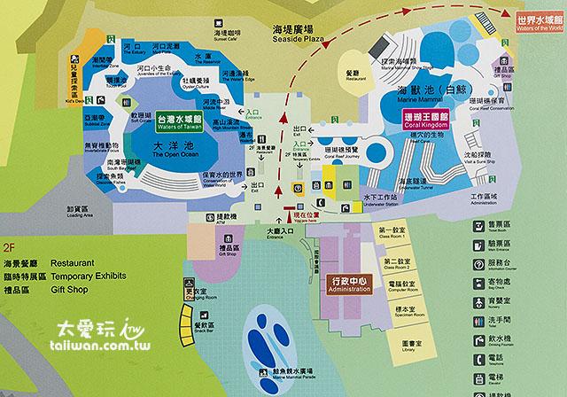 國立海洋生物博物館園區平面圖