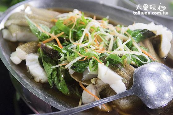清蒸魚也被我們吃個精光