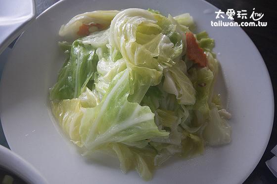 炒高麗菜很甜