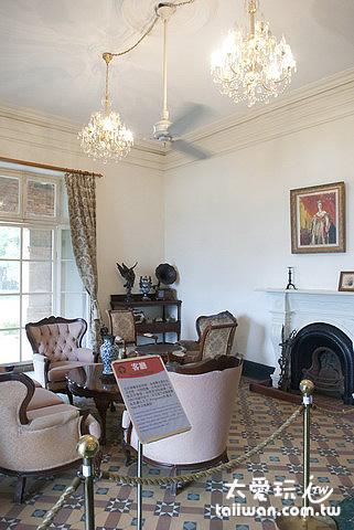 館內展示英國時期的擺設