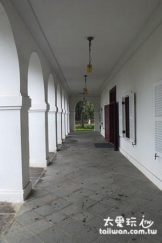 前清淡水總稅務司官邸美麗的迴廊