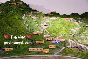 環境館內展示的金瓜石地形模型