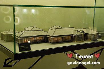 環境館內展示的太子賓館模型