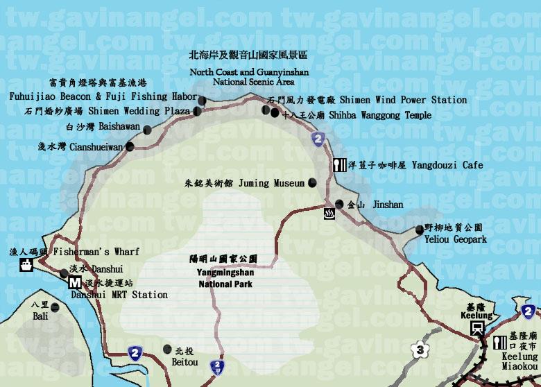 北海岸地圖
