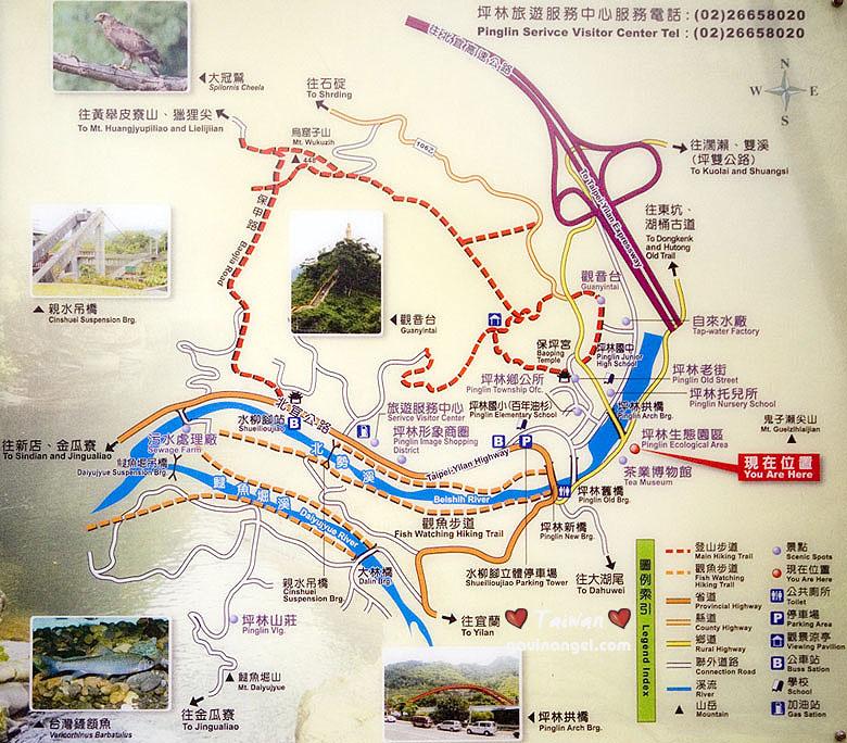 坪林步道地圖