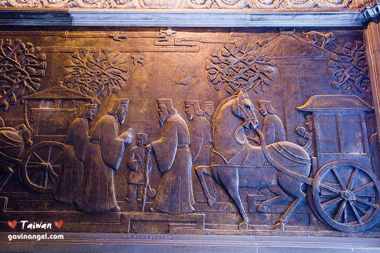 台灣廟宇中非常罕見的銅雕 - 孔子問禮於老子