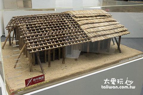 烏來泰雅民族博物館展示的原住民房屋模型