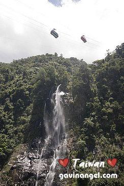 纜車與烏來瀑布