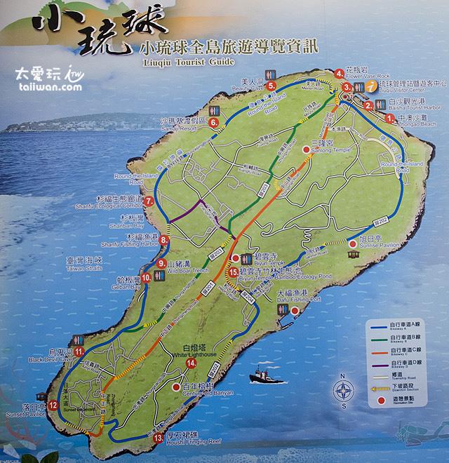 小琉球旅遊地圖