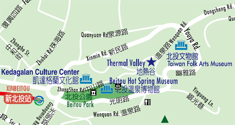 北投溫泉區地圖