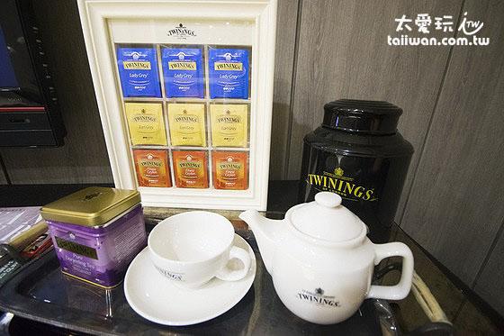 休息區提供的茶葉