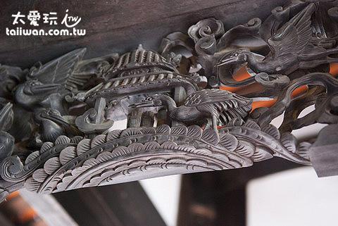 林安泰古厝精緻的木雕