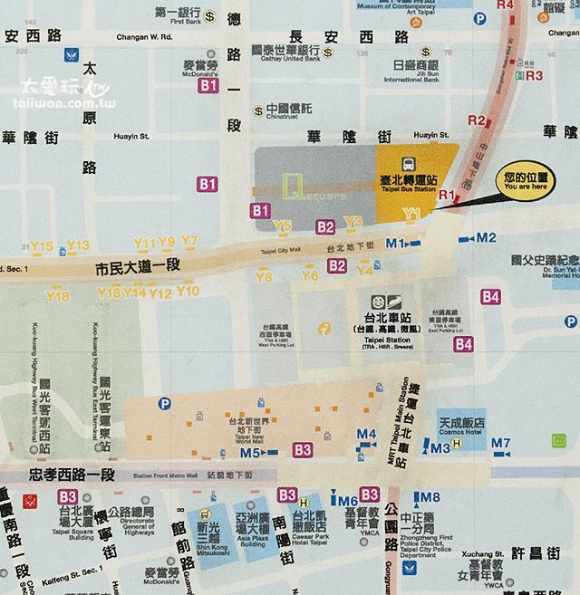 台北轉運站地圖