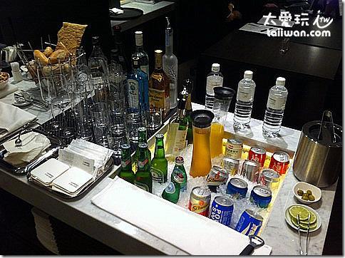 台北寒舍艾美酒店行政樓層貴賓室各種酒類