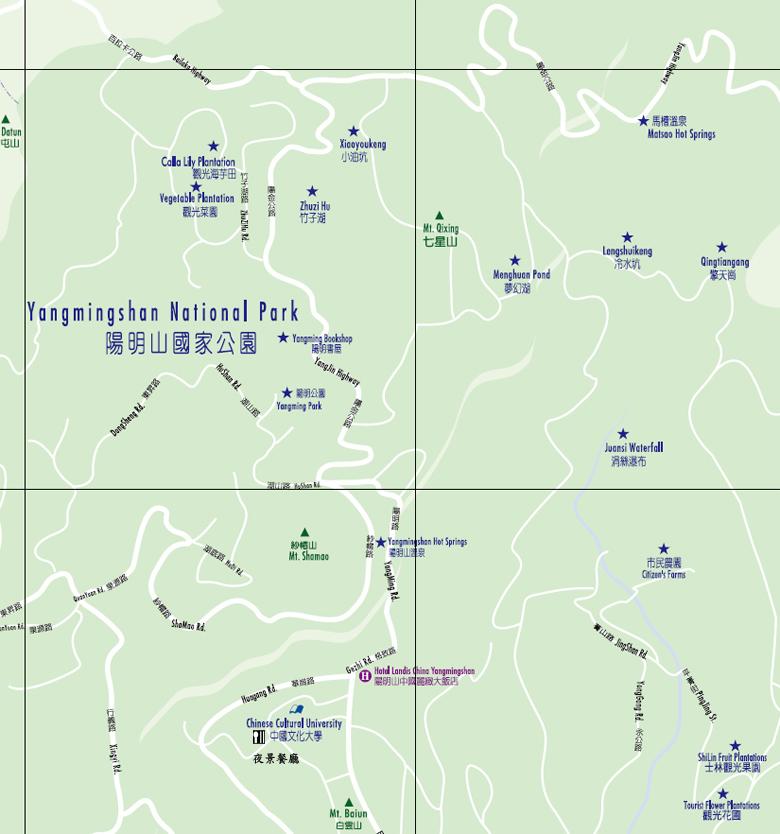 陽明山國家公園地圖