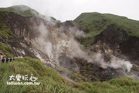 小油坑的火山地形