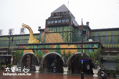 宜蘭火車站變裝成「森林火車站」