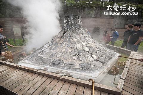 鳩之澤溫泉火山煮蛋區