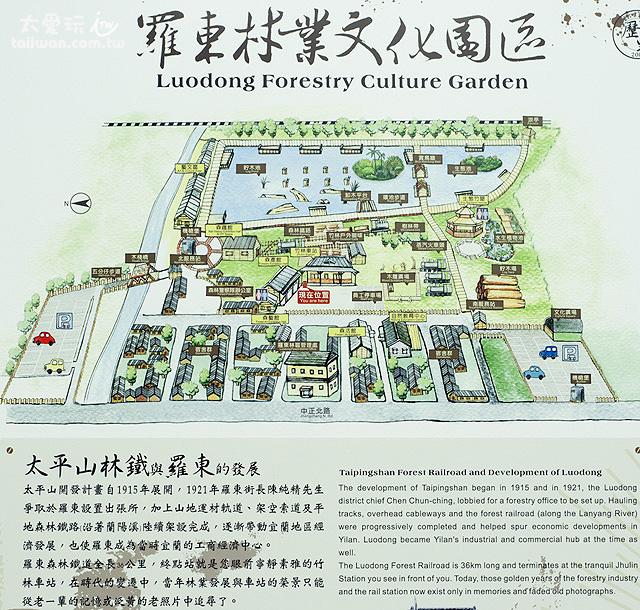 羅東林場地圖