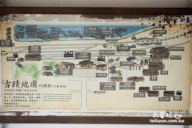 羅東林場古蹟地圖
