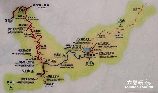 太平山森林遊樂區地圖