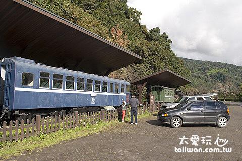 土場車站展示古早火車